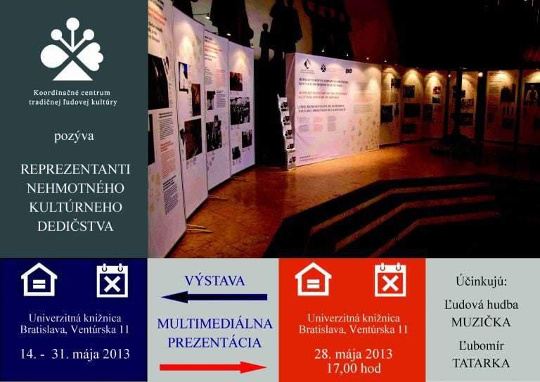 Pozvánka na výstavu Reprezentanti nehmotného kultúrneho dedičstva