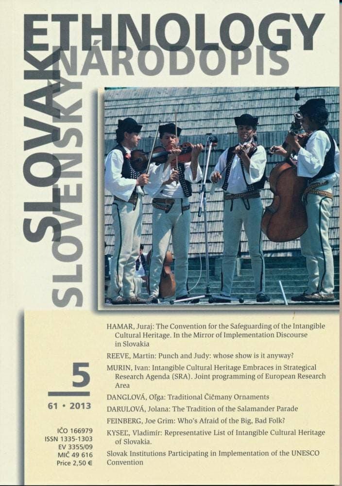 Slovak Ethnology - Slovenský Národopis