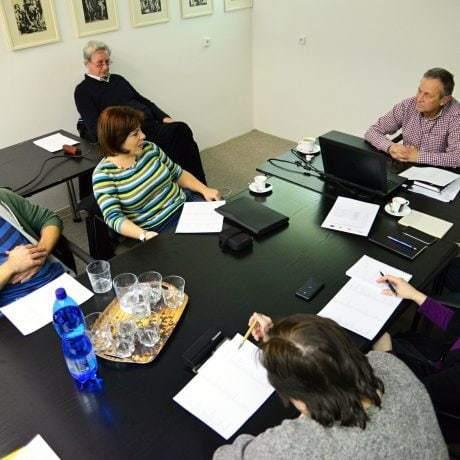 Stretnutie audítorov v priestoroch SĽUK-u. foto: Michal Veselský