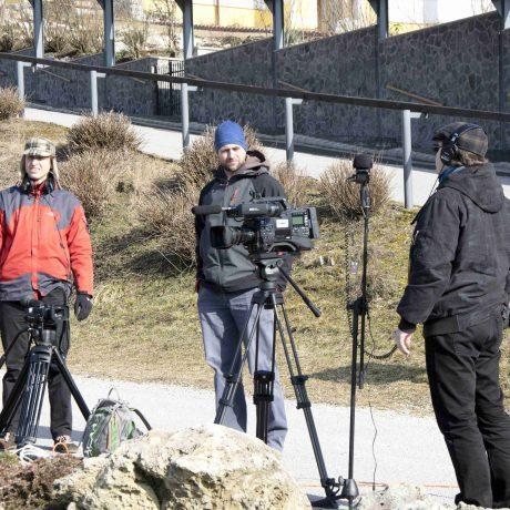 Filmový štáb v Heľpe // Foto: Miroslav Hanák