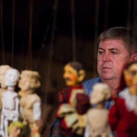 Juraj Hamar počas nakrúcania dokumentárneho filmu k nominácii. Foto: Michal Veselský.