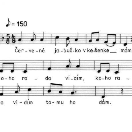 Ľúbostná pieseň (predharmonická vrstva). Henckovce (okr. Rožňava), 1965.