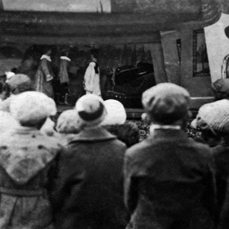 Divadlo Michala Václava Anderleho, začiatok 20. storočia. Vedecký archív ÚEt SAV, foto H. Bakaljarová 1989.