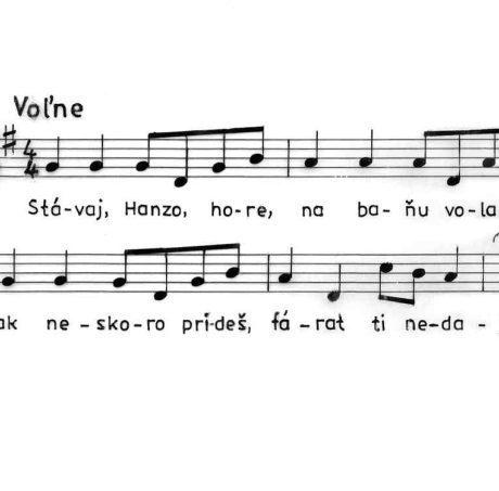 Banícka pieseň. Banská Štiavnica 1880.