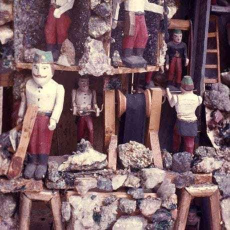 Model bane. Zhotovil J. Červeň okolo roku 1930. Banská Štiavnica. Archív diapozitívov Ústavu etnológie SAV. Foto E. Plicková, 1976
