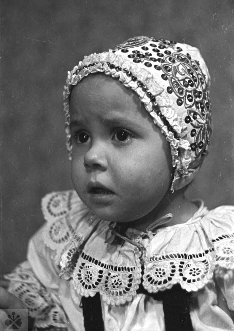 Čepček, Dolný Lopašov, okr. Piešťany, 1956. Foto: V. Torey. Archív negatívov Ústavu etnológie SAV v Bratislave