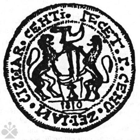 Pečať čižmárov z Čachtíc z roku 1810. Prevzaté z Špiesz, A.: Remeslá, cechy a manufaktúry na Slovensku. Bratislava 1983, 161.