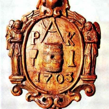 Zvolávacia tabuľka debnárov z Bratislavy z roku 1703. Prevzaté z Špiesz