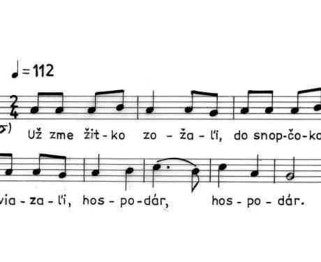 Už sme žitko zožali... Detvianska Huta (okr. Detva), 1963.