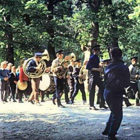 Mariánska májová púť. Marianka (okr. Malacky). Vedecký archív ÚEt SAV. Foto S. Kovačevičová 1971.