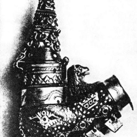 Oravská vybíjaná fajka. Koniec 19. Storočia. Prevzaté z : Slovensko - Ľud II., Bratislava 1975, 856.