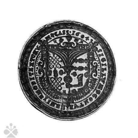 Pečať košických gombikárov z roku 1604. Prevzaté z Špiesz, A.: Remeslá, cechy, manufaktúry na Slovensku. Bratislava 1983, 85.