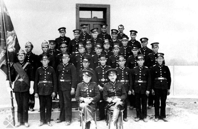 Dobrovoľný hasičský zbor. Budmerice (okr. Pezinok). Archív negatívov Ústavu etnológie SAV Bratislava