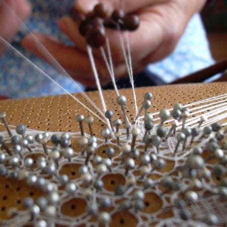 Tylová paličkovaná čipka Myjavskej pahorkatiny