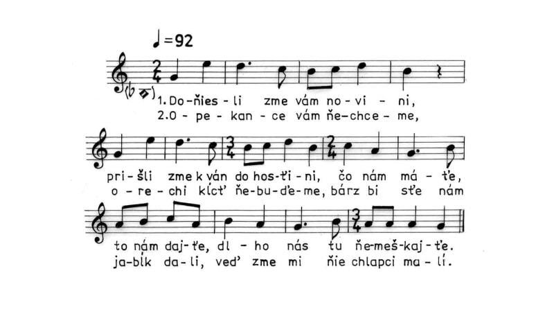 Vianočná koleda. Železná Breznica (okr. Zvolen), 1970.