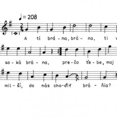 Karička. Zápis piesne z Pozdišoviec (okr. Michalovce), 1951.