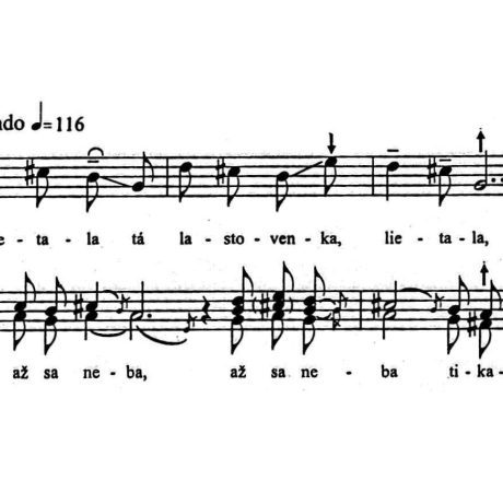 Na lúke. Brvnište (okr. Považská Bystrica). Prevzaté z publikácie Elscheková A. – Elschek, O.: Úvod do štúdia slovenskej ľudovej hudby. Bratislava 2005, 88.
