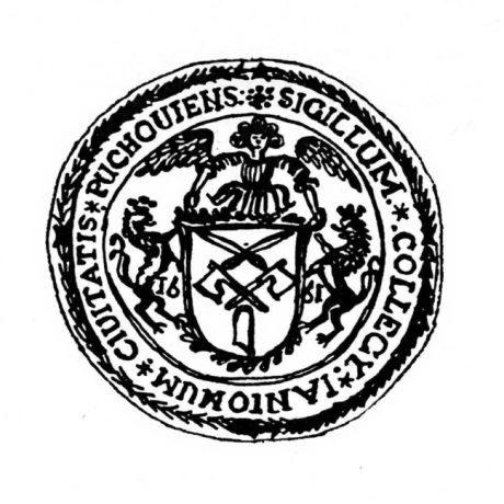 Pečať púchovských mäsiarov z roku 1661. Prevzaté z  Špiesz, A.: Remeslá, cechy, manufaktúry na Slovensku. Martin 1983, 161.