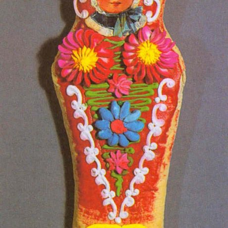 Medovník v tvare bábätka. Prevzaté z Danglová, O.: Folk Art . In Slovakia European Context of the Folk Culture. Veda, Bratislava 1997, s. 275. Foto J. Dérer