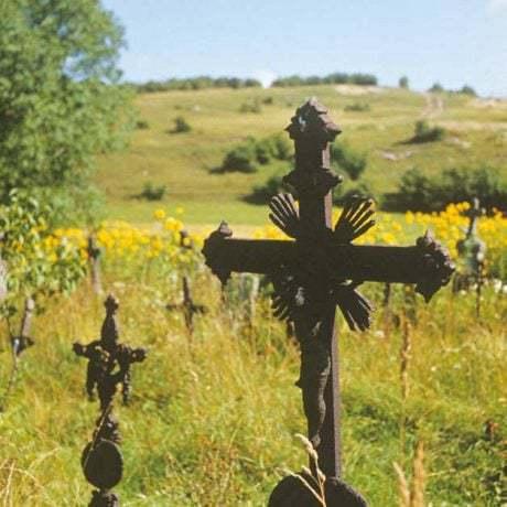 Kovaný náhrobník z konca 19. a začiatku 20. storočia.. Mojtín (okr. Púchov)