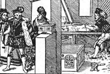 Práca v stolárskej dielni. Prevzaté z Špiesz, A.: Remeslá, cechy a manufaktúry na Slovensku. Martin 1983, 53.