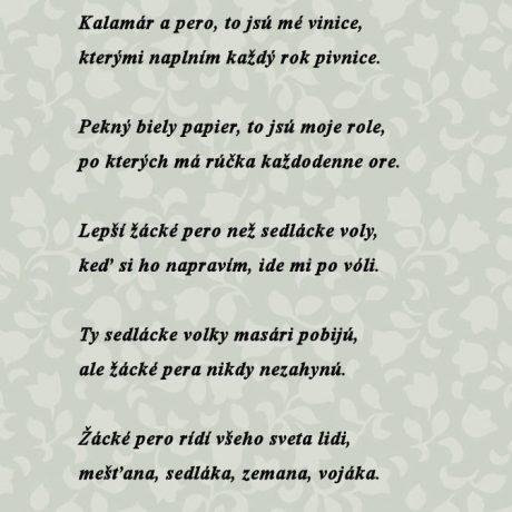 Text študentskej piesne, ktorú uverejnil J. Kollár v Národných spievankách, II. zväzok.  Bratislava 195, 219.