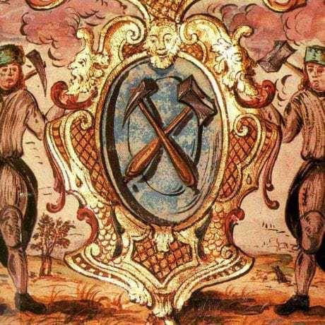 Bratislavskí kopáči studní na maľbe v cechovej knihe cinárov z rokov 1643