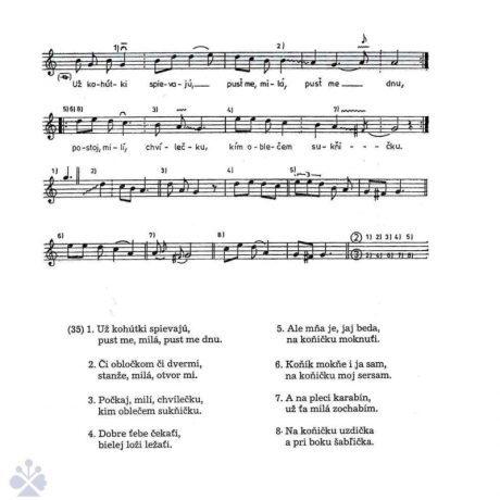 Svadobná pieseň (pri odchode hostí zo svadby). Rejdová (okr. Rožňava), Elscheková 1989.