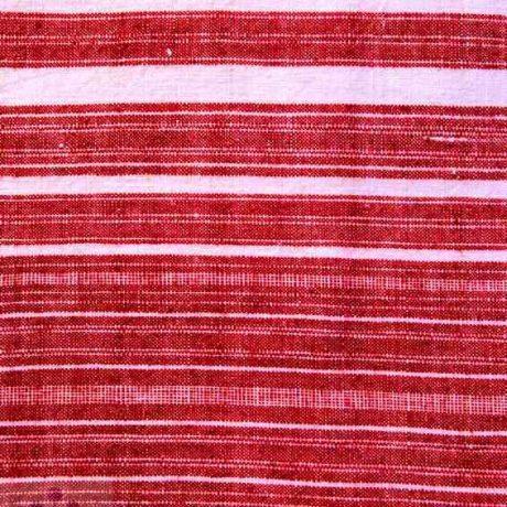 Domácky tkaná pruhovaná bavlnená tkanina