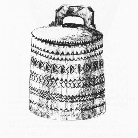 Soľnička zdobená vruborezom. Veľká Sedlica (okr. Snina), 19. storočie. SNM Etnografické múzeum v Martine. Foto: H. Bakaljarová