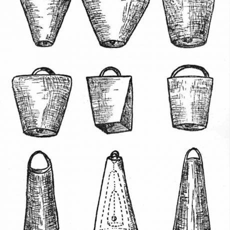 Typy zvoncov zo zvonkárskej dielne v Jelšave (zľava hore): 1. najjemnejší dudňák