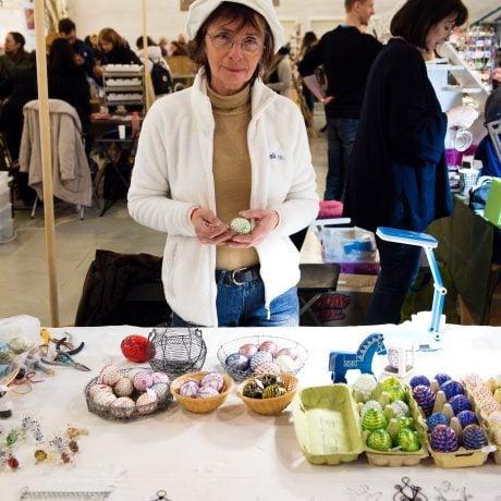 Dagmar Juríková na Remeselnom trhu v Bratislave. Foto: Michal Veselský