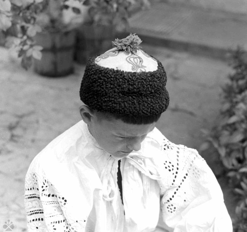 Čiapka, Krakovany, okr. Piešťany, 1971. Foto: Soňa Kovačevičová, Archív negatívov Ústavu SAV v Bratislave